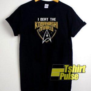 I beat the Kobayashi Maru t-shirt for men and women tshirt