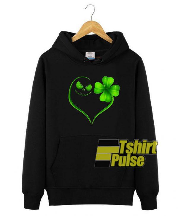 Jack Skellington Irish heart hooded sweatshirt clothing unisex hoodie