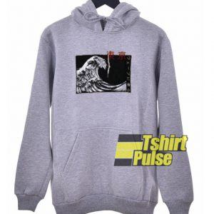 Japanese Wave hooded sweatshirt clothing unisex hoodie