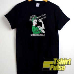 Kidney disease warrior unbreakable t-shirt for men and women tshirt