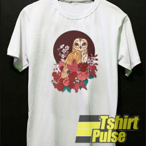 Owl Floral Eclipse t-shirt for men and women tshirt