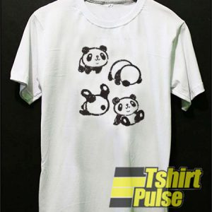 Rolling panda t-shirt for men and women tshirt