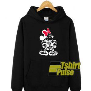 Skeleton Minnie Halloween hooded sweatshirt clothing unisex hoodie