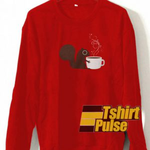 Squirrel Loves Coffee sweatshirt