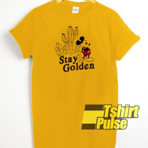 Stay Golden Mickey Mouse t-shirt for men and women tshirt