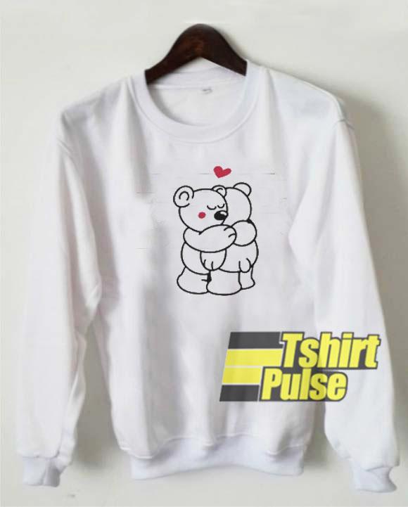 Teddys in love sweatshirt