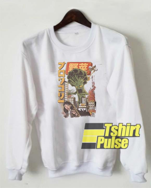 The Broccozilla Japanese sweatshirt