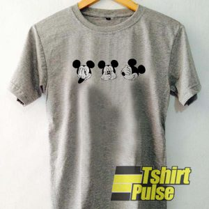 Three Head Mickey Mouse t-shirt for men and women tshirt