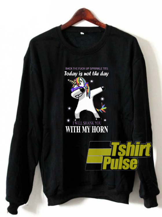 Unicorn Dabbing back sweatshirt