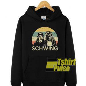 Wayne's World Schwing vintage hooded sweatshirt clothing unisex hoodie