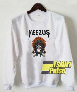 Yeezus Skull Indian sweatshirt
