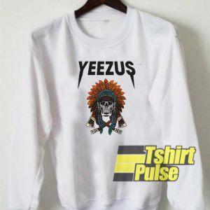 Yeezus Skull Indian sweatshirt