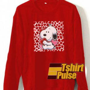 snoopy valentine sweatshirt