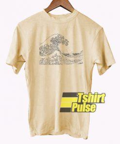 waves of kanagawa t-shirt for men and women tshirt