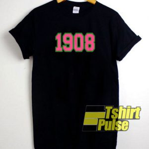 1908 Pink And Green t-shirt for men and women tshirt