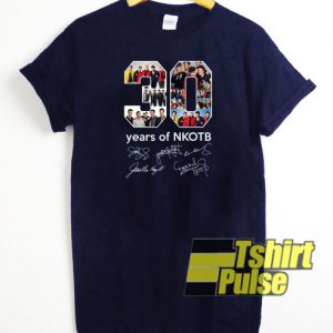 30 years of NKOTB signatures t-shirt for men and women tshirt