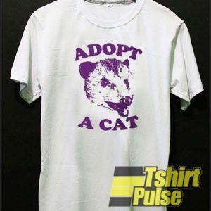 Adopt a cat t-shirt for men and women tshirt