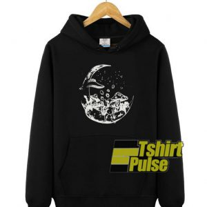 Alien on the Moon hooded sweatshirt clothing unisex hoodie