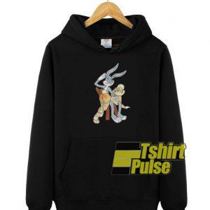 Bugs Bunny And Lola hooded sweatshirt clothing unisex hoodie