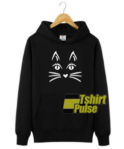 Cat Face Halloween hooded sweatshirt clothing unisex