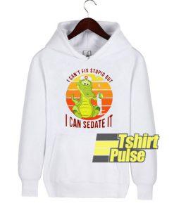 Crocodile nurse hooded sweatshirt clothing unisex