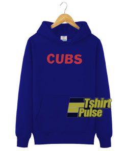 Cubs Blue hooded sweatshirt clothing unisex