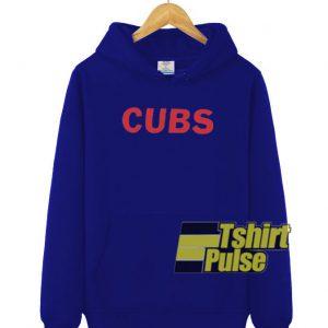 Cubs Blue hooded sweatshirt clothing unisex hoodie
