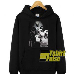 Darth Vader and Stormtrooper selfie hooded sweatshirt clothing unisex hoodie