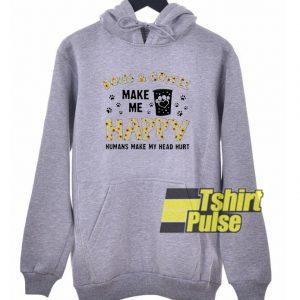 Dogs And Coffee Make Me Happy hooded sweatshirt clothing unisex hoodie