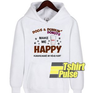 Dogs and Dunkin' Donuts hooded sweatshirt clothing unisex hoodie