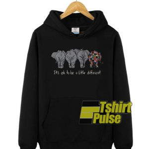 Elephant it's ok to be a little different hooded sweatshirt clothing unisex hoodie