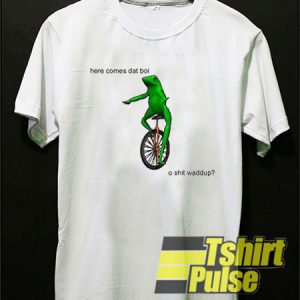 Froggy Unicycle t-shirt for men and women tshirt