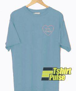 Girl Power Love t-shirt for men and women tshirt