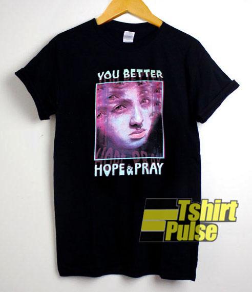 HOPE & PRAY t shirt for men and women tshirt