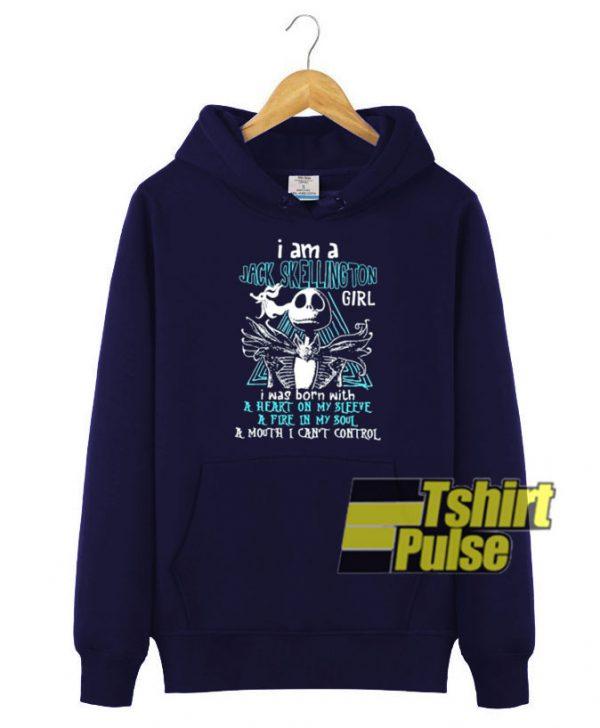 I am a jack skellington girl hooded sweatshirt clothing unisex hoodie