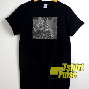 Japanese Temple t-shirt for men and women tshirt