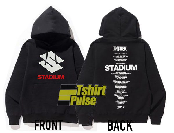 Justin Bieber Stadium Tour Black hooded sweatshirt clothing unisex hoodie