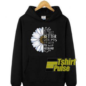 Life is just better hooded sweatshirt clothing unisex hoodie