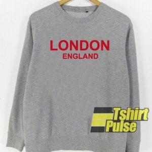 London England Grey sweatshirt