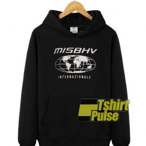 MISBHV Black Internazionale hooded sweatshirt clothing unisex hoodie