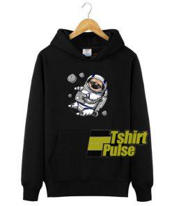 Pug Astronaut hooded sweatshirt clothing unisex