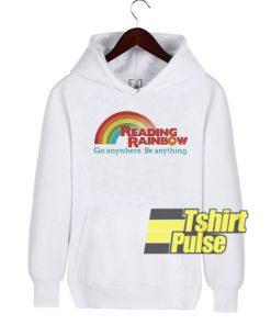 Reading rainbow hooded sweatshirt clothing unisex