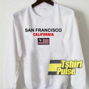 San Francisco California Flag sweatshirt