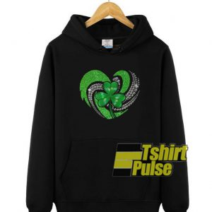 Shamrock Irish Heart hooded sweatshirt clothing unisex hoodie