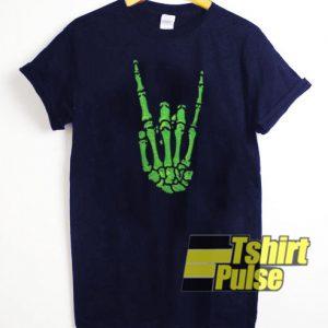 Skeleton Hand Rock t-shirt for men and women tshirt