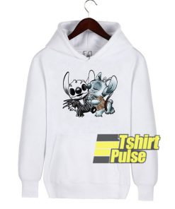 Stitch and Angel Nightmare hooded sweatshirt clothing unisex