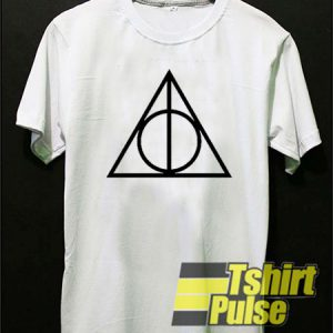 Triangle with Circle Inside t-shirt for men and women tshirt