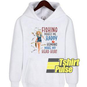 Women Fishing hooded sweatshirt clothing unisex hoodie