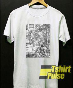 Woodcut Art t-shirt for men and women tshirt