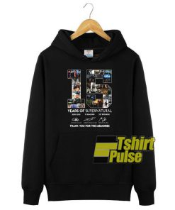 15 Years Of Supernatural hooded sweatshirt clothing unisex hoodie